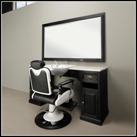 Classic Barber Meubel | Wide Black | Barbershop | Kappers interieur | Salon | Barbier