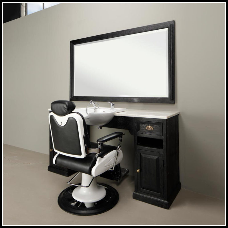 Classic Barber Meubel | Wide Black | Barbershop | Kappers interieur | Salon | Barbier