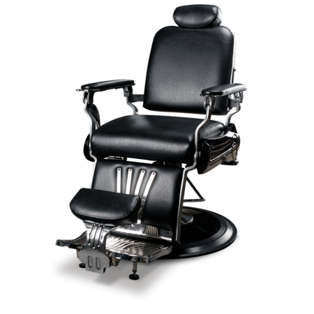 Kappersstoel | Zwart | Kappersstoelen | Barber stoel | Kapsalon meubelen | Kappers inventaris | Klassiek | Barbershop | Old school