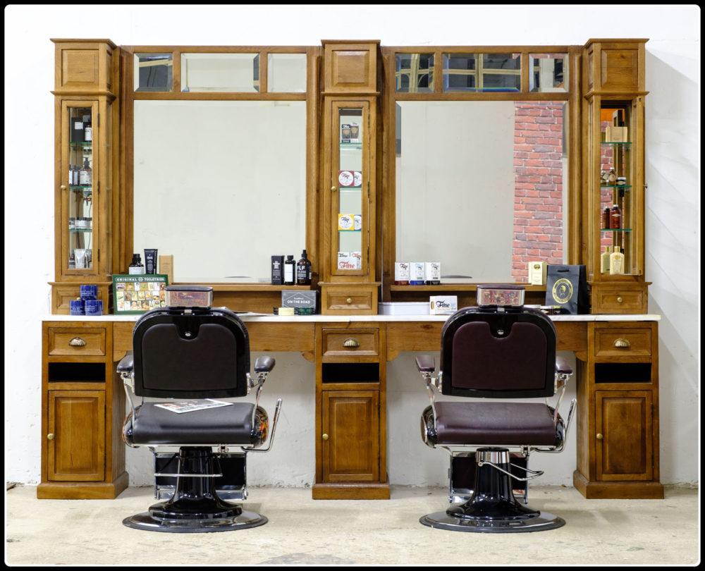Barber Meubel | Classic Teak | Barbershop | Kapsalon interieur | Kapmeubel