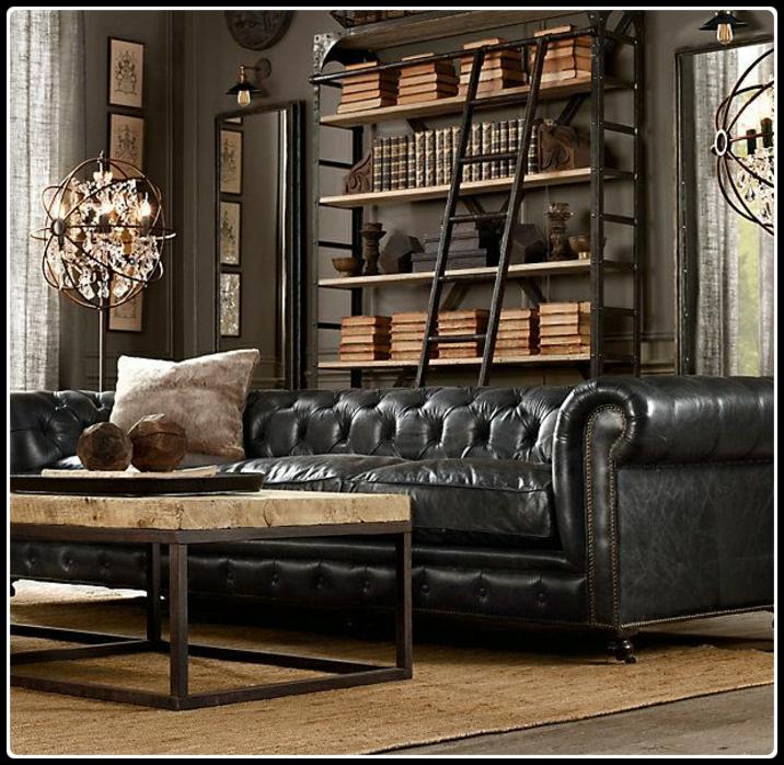 Chesterfield black | Herenkapsalon | Barbier | Barbershop interieur