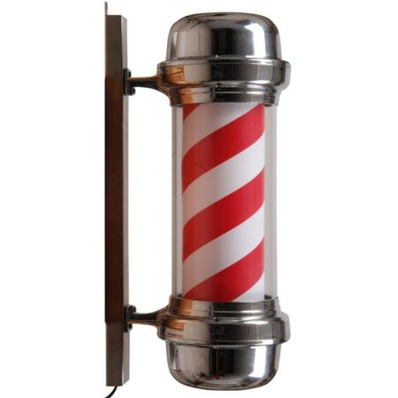Barber pole | Chrome | Rood | Wit | Kapperspaal