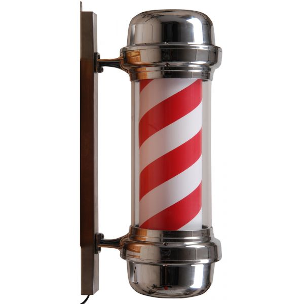 Barber pole   Chrome   Rood   Wit   Kapperspaal