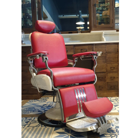Barberstoel | Majesty | Rood | Kapperstoelen | Barbershop | Kappersmeubilair | Barberchairs