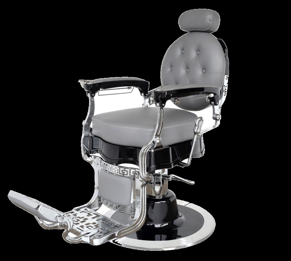 Barberstoelen | Saloninrichting | Salonstoel | Hoge kwaliteit | Leer | Grijs Zwart | Barberstoel