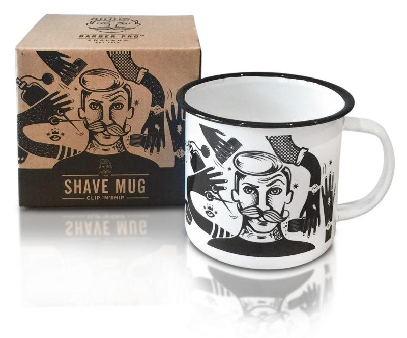 Barber pro | Scheer mok | Barber Cadeau | Shave mug | Giftset | Barber essentials | Benelux levering | Emaille | Beste prijzen | Clip n Snip